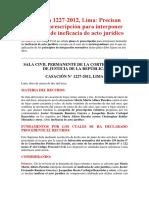 Casación 1227-2012, Lima