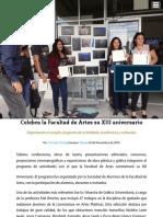 Celebra La Facultad de Artes Su XIII Aniversario Gaceta Universitaria