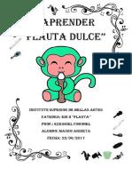 Cuadernillo Flauta Dulce