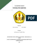 CRS Tonsilitis Kronis