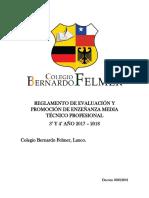 Reglamento de Evaluación y Promoción de Enzeñanza Media Técnico Profesional