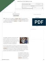 Definición de Censo - Qué Es, Significado y Concepto