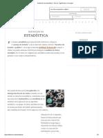 Definición de Estadística - Qué Es, Significado y Concepto