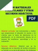 Los Materiales Curriculares y Otros Rcursos Didacticos