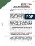 Vinculación a proceso. Javier Duarte