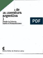 Literatura argentina, Historia de; Tomo 1 - Parte 1 - CEAL.pdf