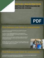 Malas Practicas y Buenas en Procedimientos de Preparación de Alimentos en Cocina - Copia