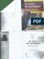 El Oficio Del Pedagogo Bazán Campos