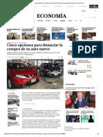 Cinco Opciones Para Financiar La Compra de Tu Auto Nuevo _ Personal _ Economía _ El Comercio Peru