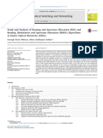 Study and Analysis of Routing and Spectrum Allocation (RSA) and Routing, Modulation and Spectrum Allocation (RMSA) Algorithms in Elastic Optical Networks (EONs)