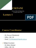 CSE5ANE Introduction