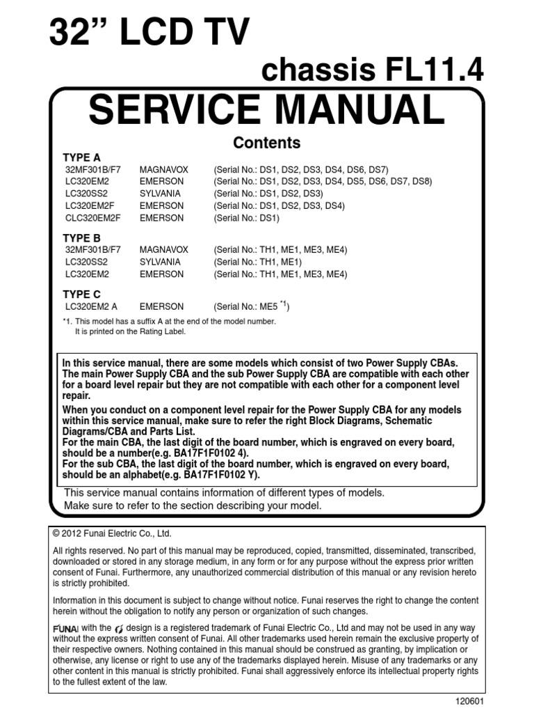 emerson_lc320em2_MAGNAVOX_32MF301B_chassis_fl11 4 pdf