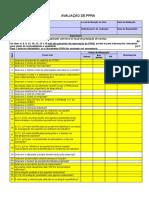 Formulário Check List de Ppra