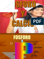 FOSFORO y Calcio