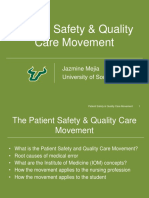 patient safety   quality care movement
