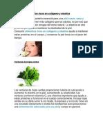 Alimentos Ricos en Colágeno y Elastina