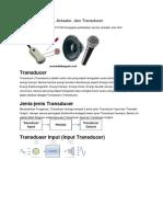 Perbedaan Sensor, Actuator, Dan Transducer