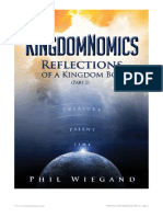 KingdomNomics Reflections Part 1