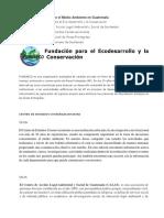 Instituciones Que Cuidan El Medio Ambiente en Guatemala