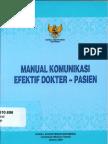 Buku Manual Komunikasi Efektif Dokter - Pasien