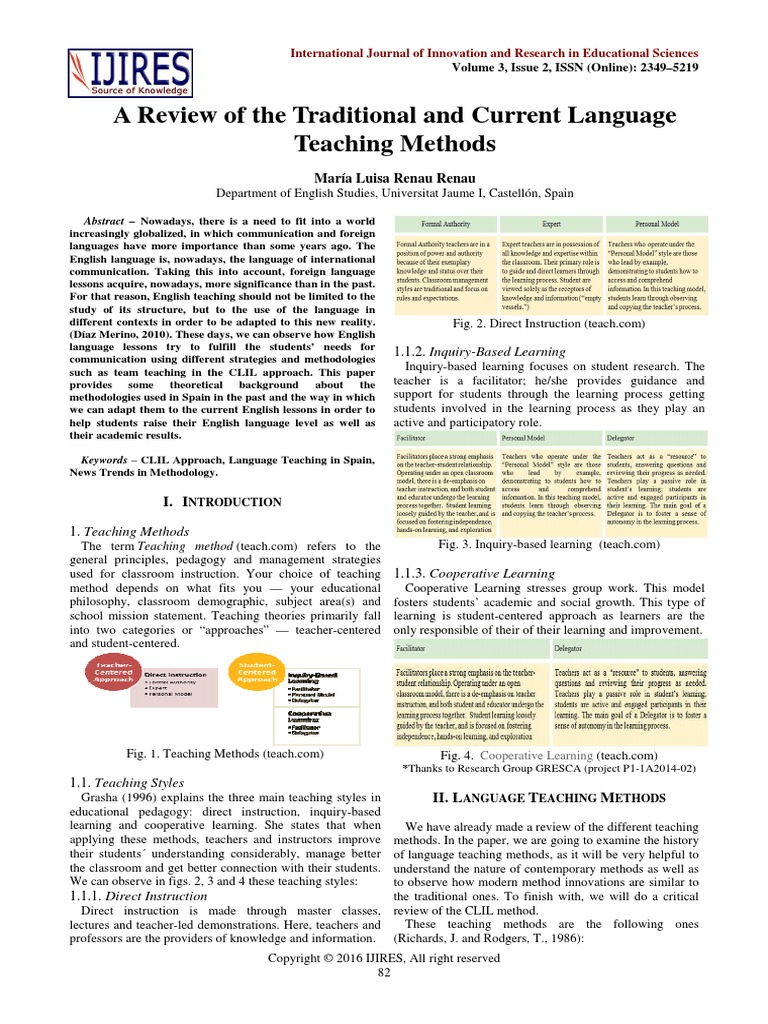 traditional instructional methods