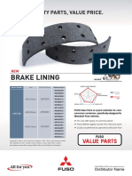 Fuso Value Parts Brake Lining