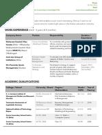 Pranoy Mazumdar - Resume