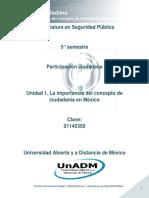 Unidad 1. La Importancia Del Concepto de Ciudadania en Mexico