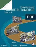 ESTADÍSTICAS DEL PARQUE AUTOMOTOR DEL 2003 AL 2016