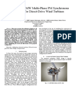 Design of a 10 MW  Multi-Phase PM Synchronous Generator for Direct-Drive Wind Turbines