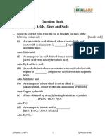 Acids Bases &Salts X ICSE CHEMISTRY