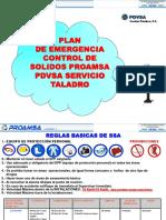 Plan de Emergencia Control de Solidos PROAMSA Taladro- REV. 08Ago2014
