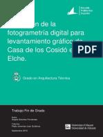 Levantamiento Grafico de La Casa de Los Cosido en SANCHEZ FERNANDEZ ANGELA