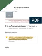 """Notas de """" Historias Inconscientes """""""