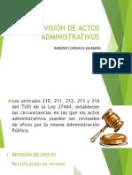 Sesión 9 La Revisón de Actos Administrativos