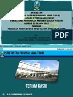 Sosialisasi Permendagri 33 Th 2017 Tentang APBD 2018