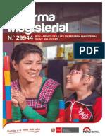 Norma-Ley de Reforma Magisterial 29944