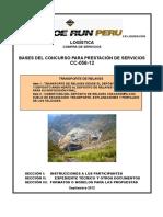 Bases Concurso CC-056-12 (Transporte Relaves - Externas)