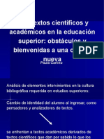 Paula Carlino. Leer Texos Académicos.