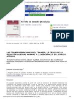 Revista de Derecho (Valdivia) - _b_las Transformaciones Del Trabajo, La Crisis de La Relación Laboral Normal y El Desarrollo Del Empleo Atípico__b