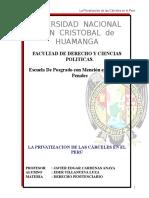 Privatizacionde Las Carceles en El Peru