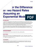 Tests for the Difference of Two Hazard Rates Assuming an Exponential Model
