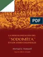 La Descolonización Del Sodomita en Los Andes