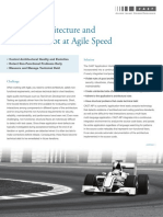 Manage Architecture and Technical Debt at Agile Speed