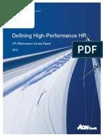2012 Defining High-Performance HR