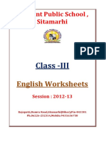 III English-Worksheets Session 2012 2013