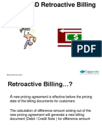 Retro Active Billing