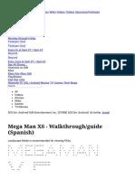 Mega Man X6 - Walkthrough_guide (Spanish)