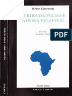 Heinz Kimmerle - Afrika'Da Felsefe Afrika Felsefesi - Kabalcı Yay-1995