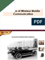 Evolution of Wireless Comm